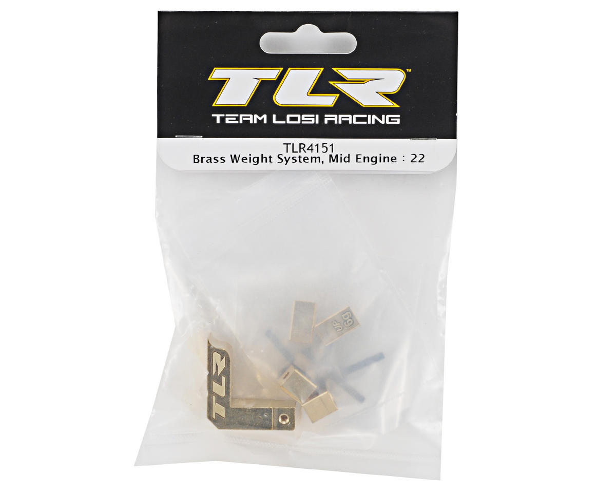 Team Losi Racing Brass Weight System (Mid Motor) (TLR 22)