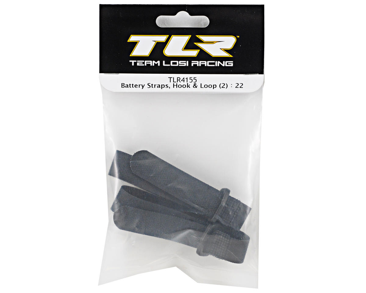 Team Losi Racing Hook & Loop Battery Strap Set (2) (TLR 22)