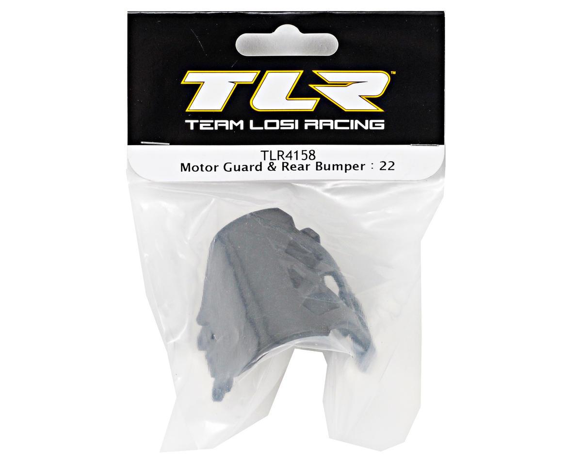 Losi   Motor Guard /& Rear Bumper 22  TLR4158