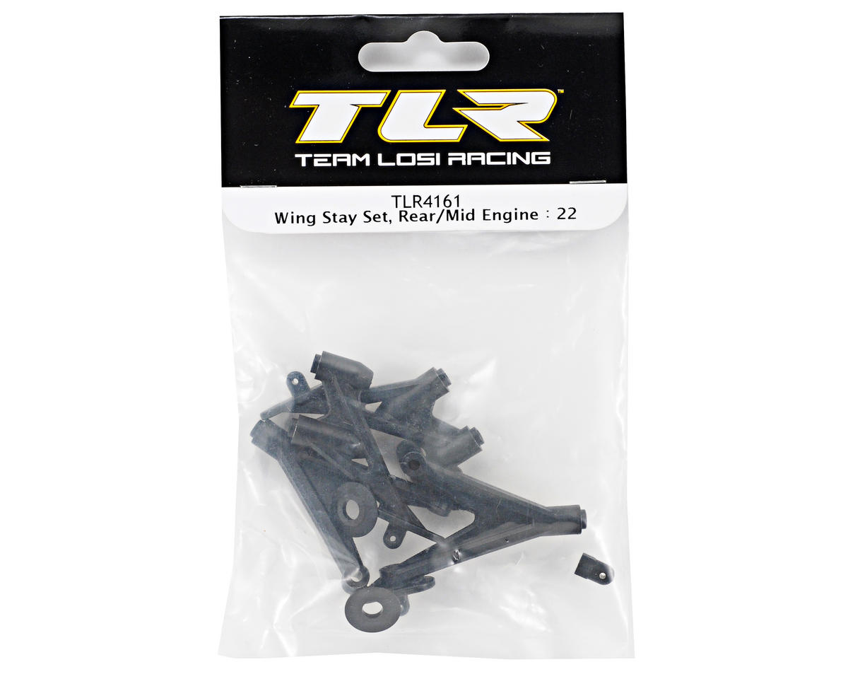 Team Losi Racing Wing Stay Set (TLR 22)