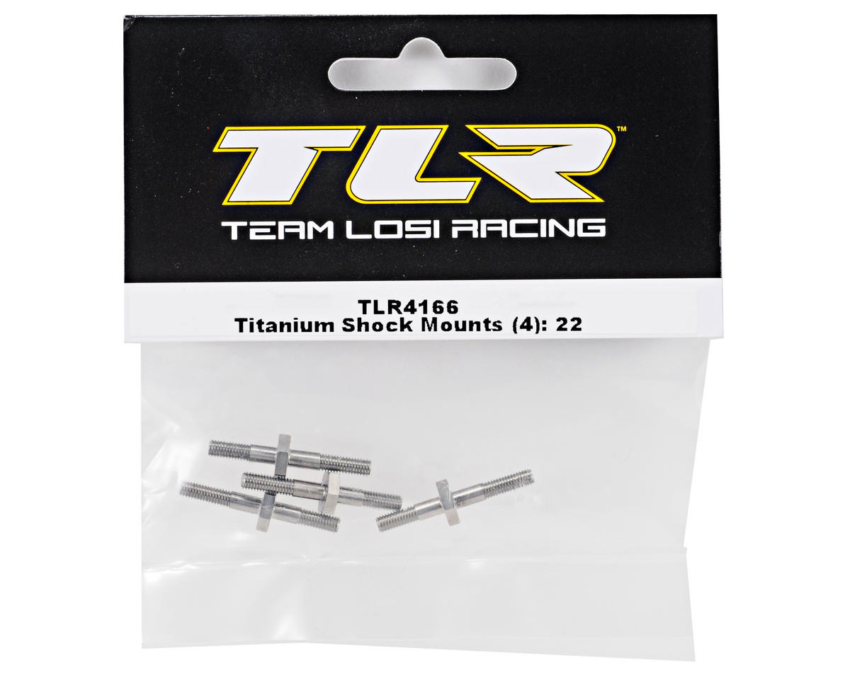Team Losi Racing Titanium Shock Mount Set (4) (TLR 22)