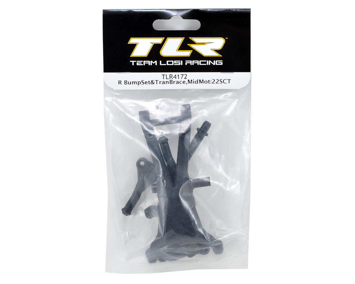 Rear Bumper & Transmission Brace Set (Mid Motor) by Team Losi Racing