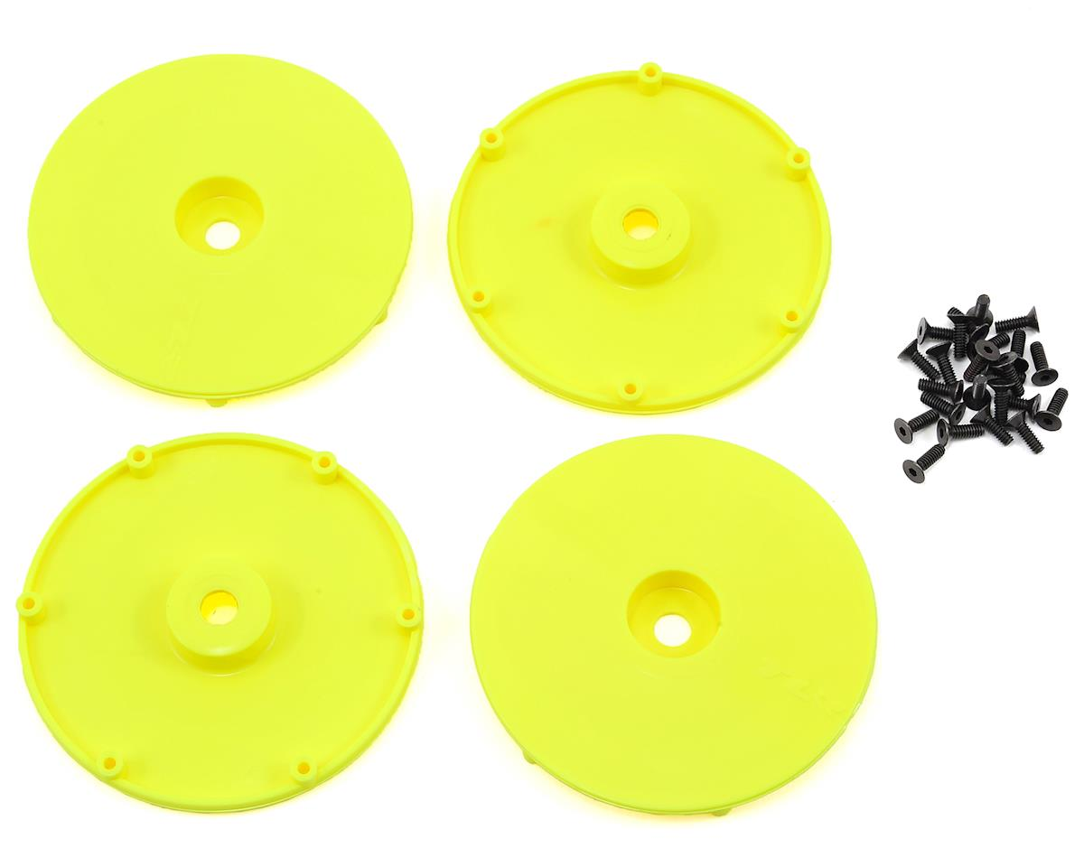 Team Losi Racing Wheel Disk w/Screws (4) (Yellow)