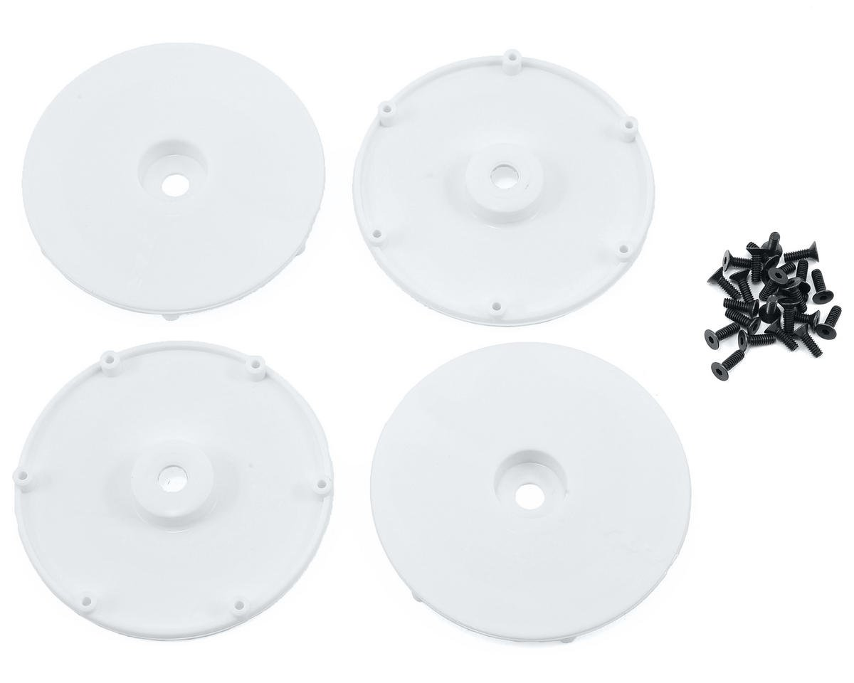 Team Losi Racing Wheel Disk w/Screws (4) (White)