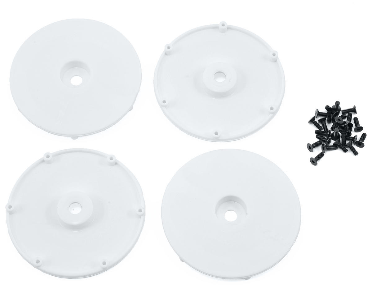 Wheel Disk w/Screws (4) (White) by Team Losi Racing