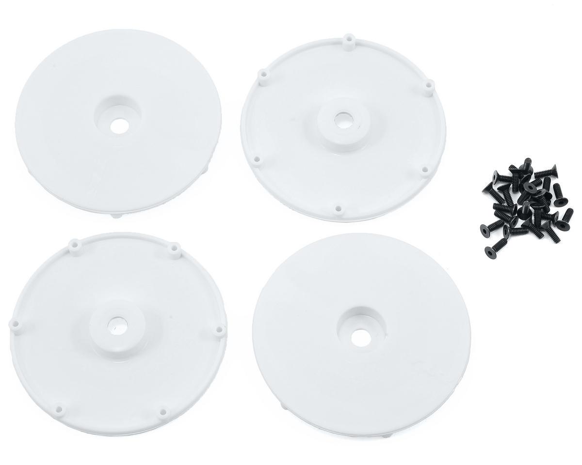 Team Losi Racing Wheel Disk w/Screws (4) (White)