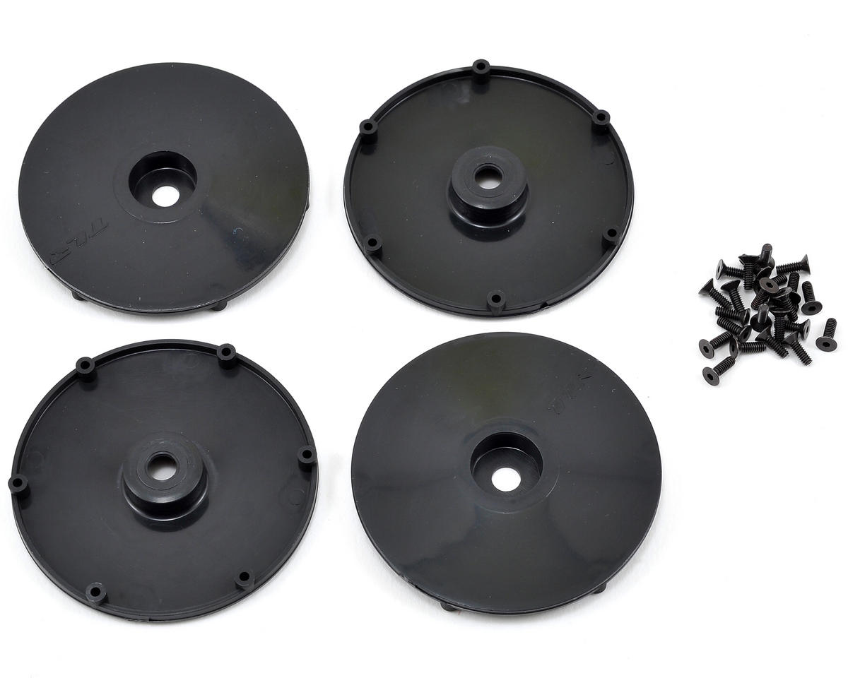 Team Losi Racing Wheel Disk w/Screws (4) (Black)