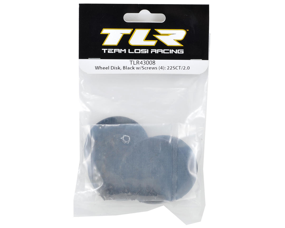 Wheel Disk w/Screws (4) (Black) by Team Losi Racing