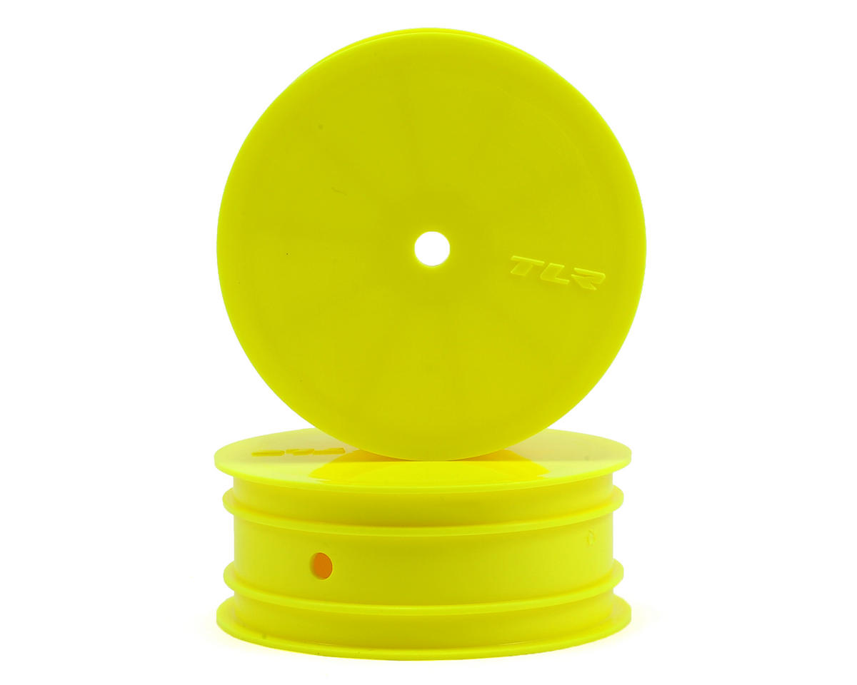 Team Losi 22 4.0 Racing 12mm Hex Front 1/10 Buggy Wheels (2) (22 3.0) (Yellow)