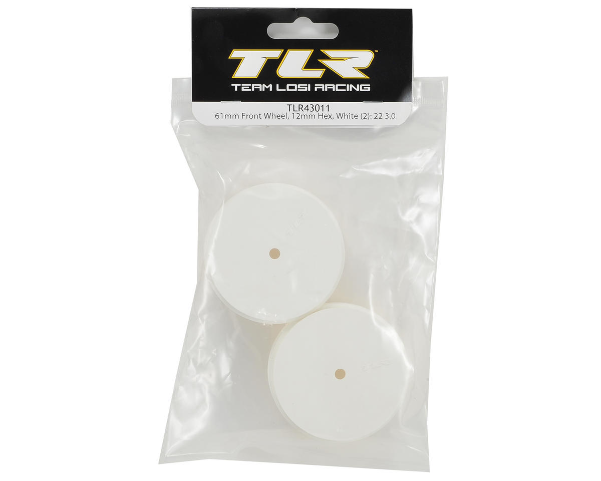 Team Losi Racing 61mm Front 1/10 Buggy Wheels (2) (22 3.0) (White)
