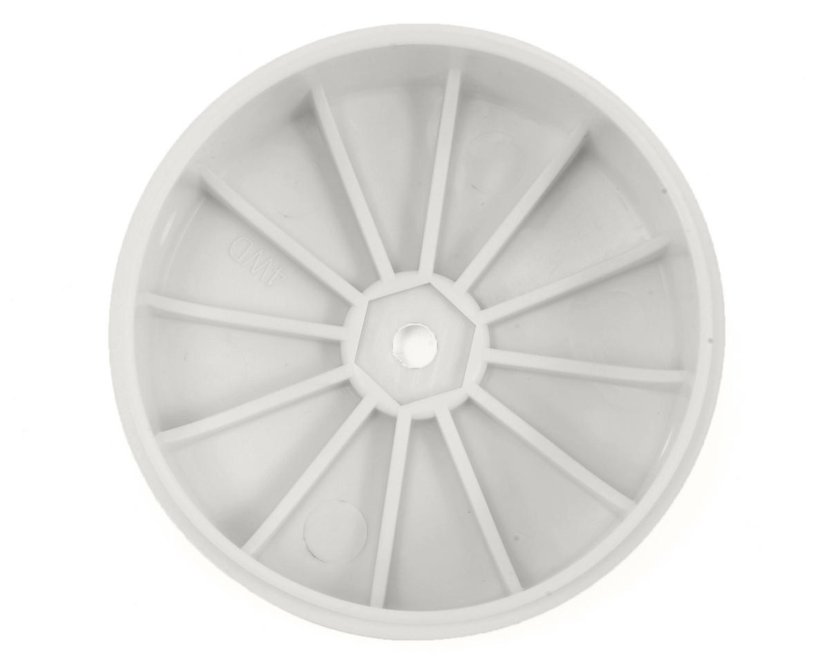 Team Losi Racing 12mm Hex 61mm 4WD Front Buggy Wheels (2) (White) (22-4)