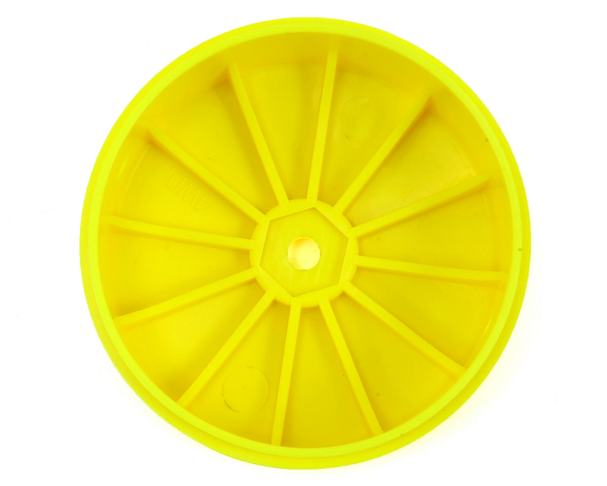 Team Losi Racing 12mm Hex 61mm 4WD Front Buggy Wheels (2) (Yellow) (22-4)