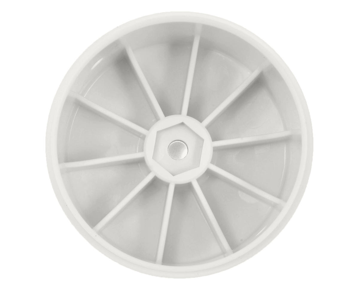 12mm Hex 61mm 1/10 Rear Buggy Wheels (White) (2) (22 3.0/22-4) by Team Losi Racing
