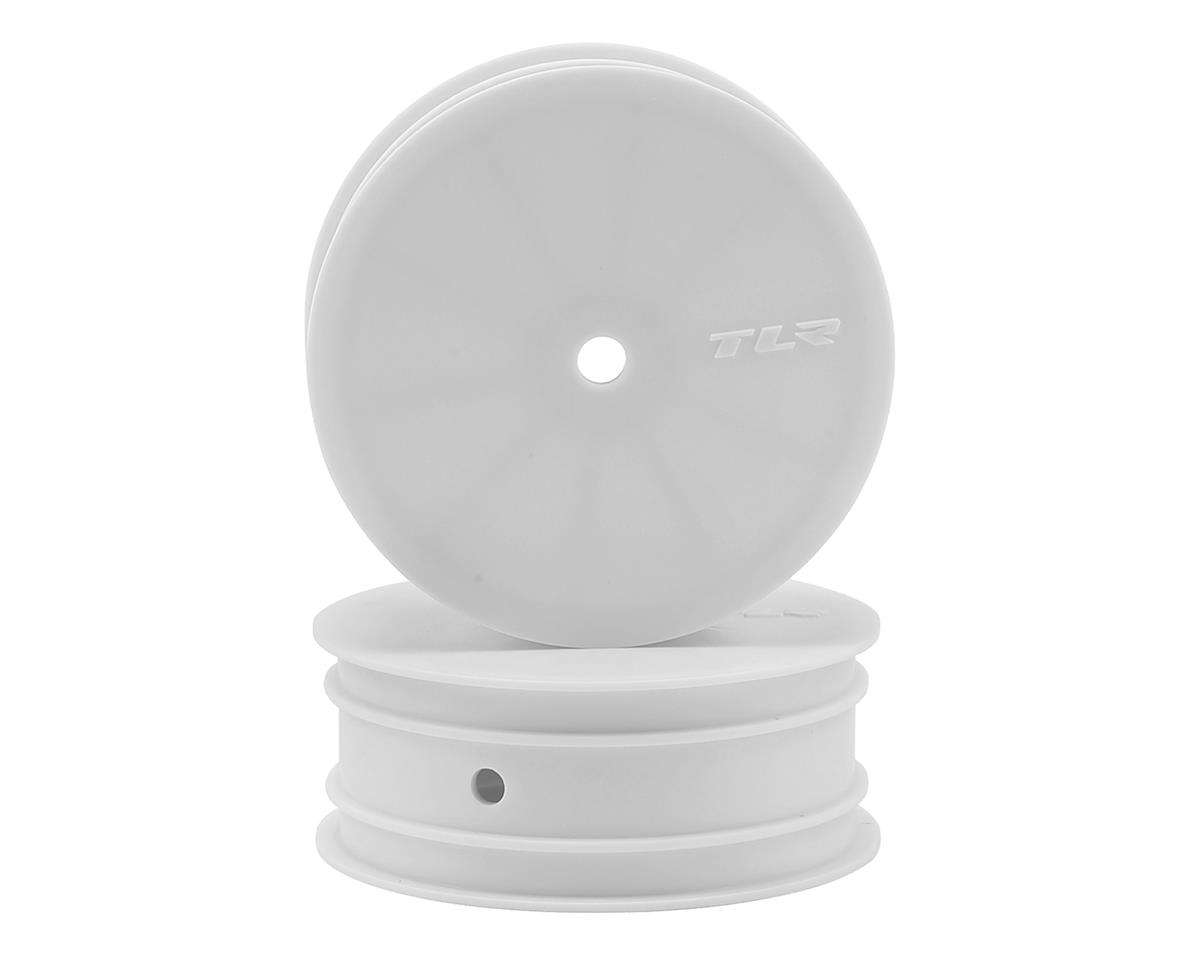 Team Losi 22 4.0 Racing 12mm Hex Stiffezel Front 2WD Buggy Wheels (White) (2) (22 4.0)