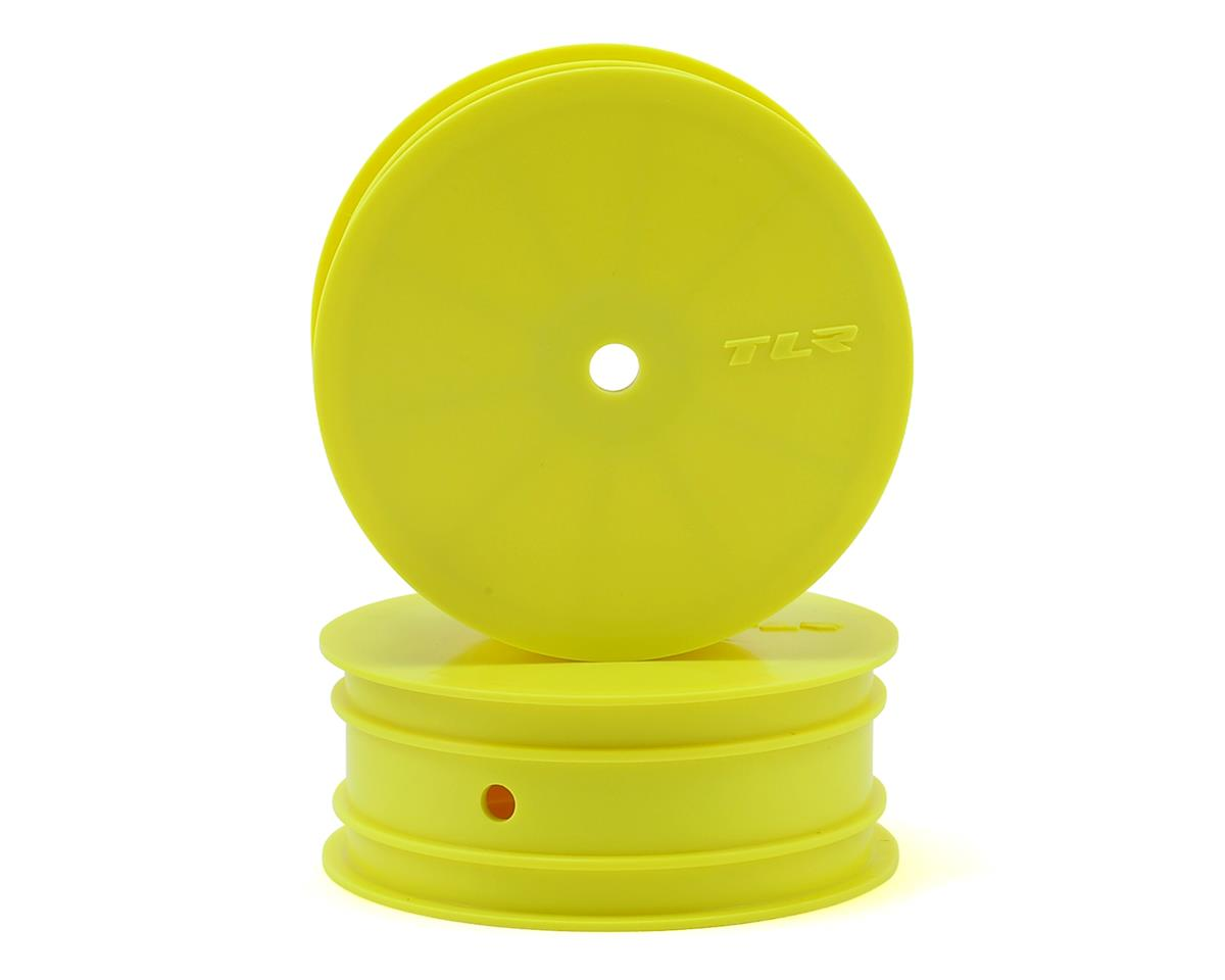 12mm Hex Stiffezel Front 2WD Buggy Wheels (Yellow) (2) (22 4.0) by Team Losi Racing