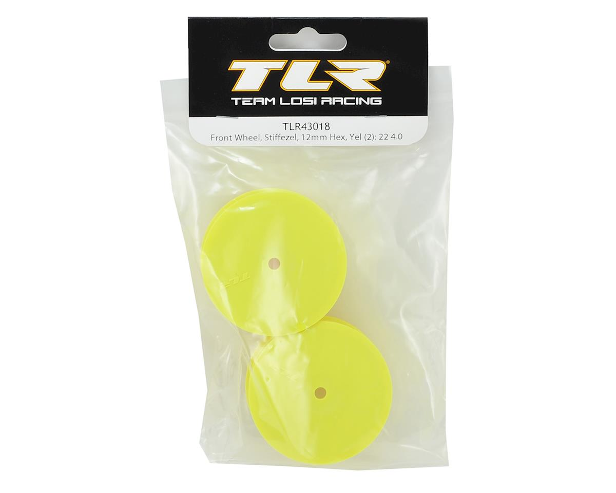 Team Losi Racing 12mm Hex Stiffezel Front 2WD Buggy Wheels (Yellow) (2) (22 4.0)