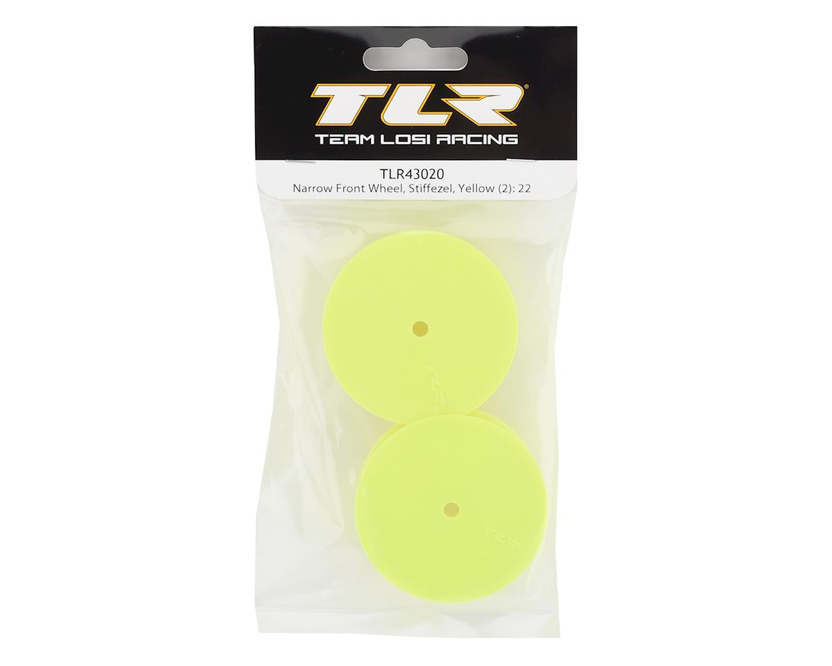 Team Losi Racing Stiffezel Narrow Front 2WD Buggy Wheels w/12mm Hex (Yellow) (2)