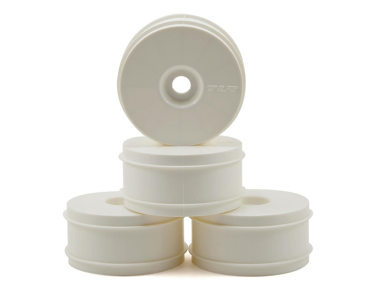 """""""Dome"""" 1/8 Buggy Dish Wheel (4) (White) by Team Losi Racing"""