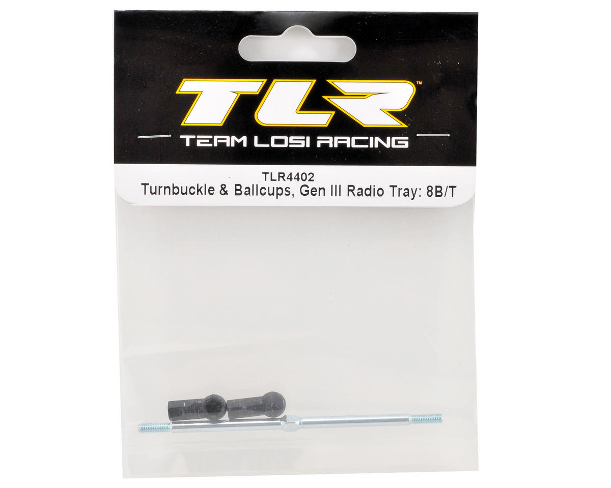 "Team Losi Racing ""Gen III"" Radio Tray Turnbuckle & Ballcup Set"