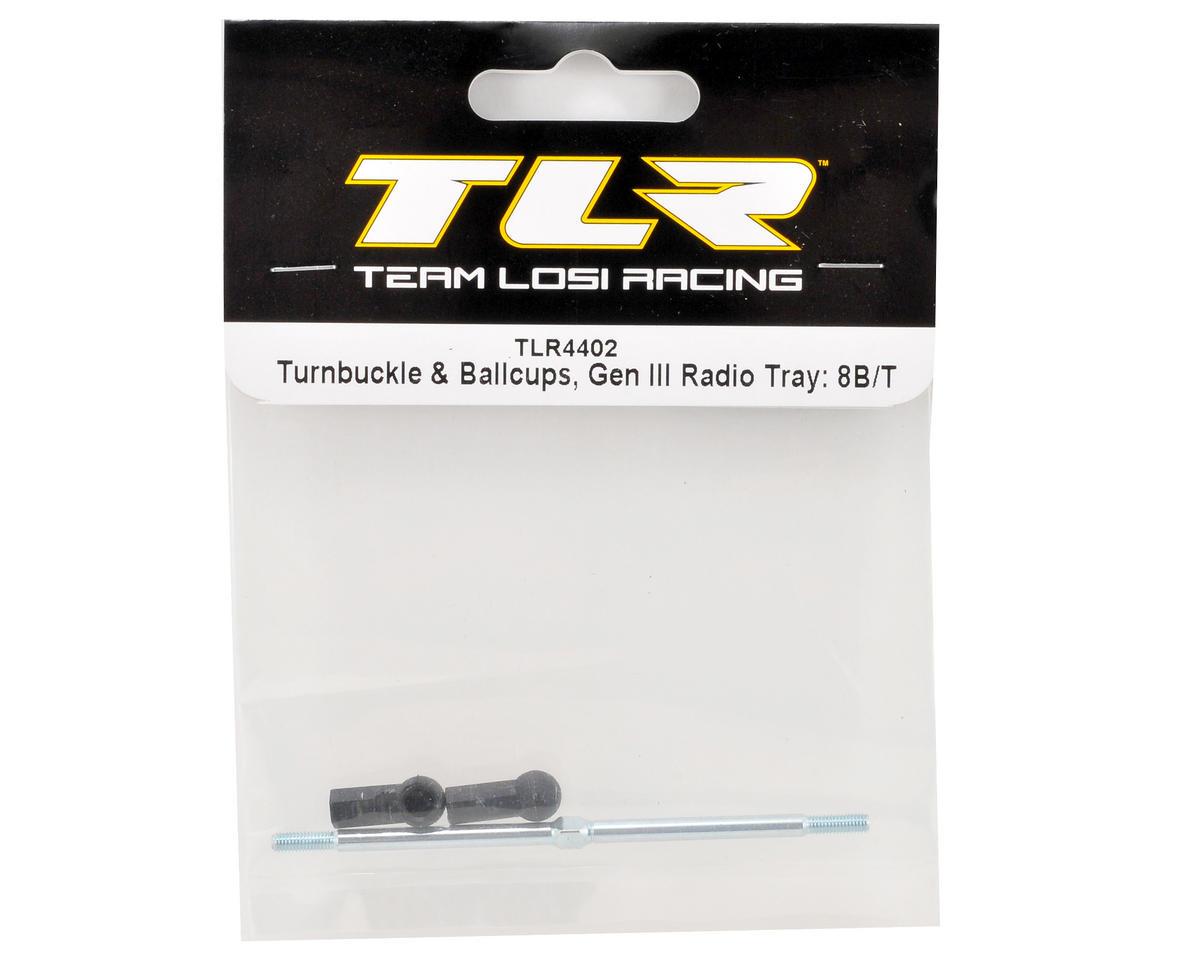"""Team Losi Racing """"Gen III"""" Radio Tray Turnbuckle & Ballcup Set"""