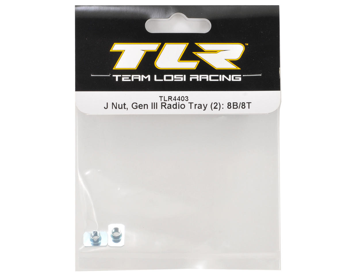"Team Losi Racing ""Gen III"" Radio Tray J Nut Set (2)"