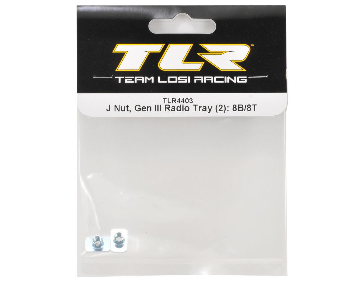 """Gen III"" Radio Tray J Nut Set (2) by Team Losi Racing"