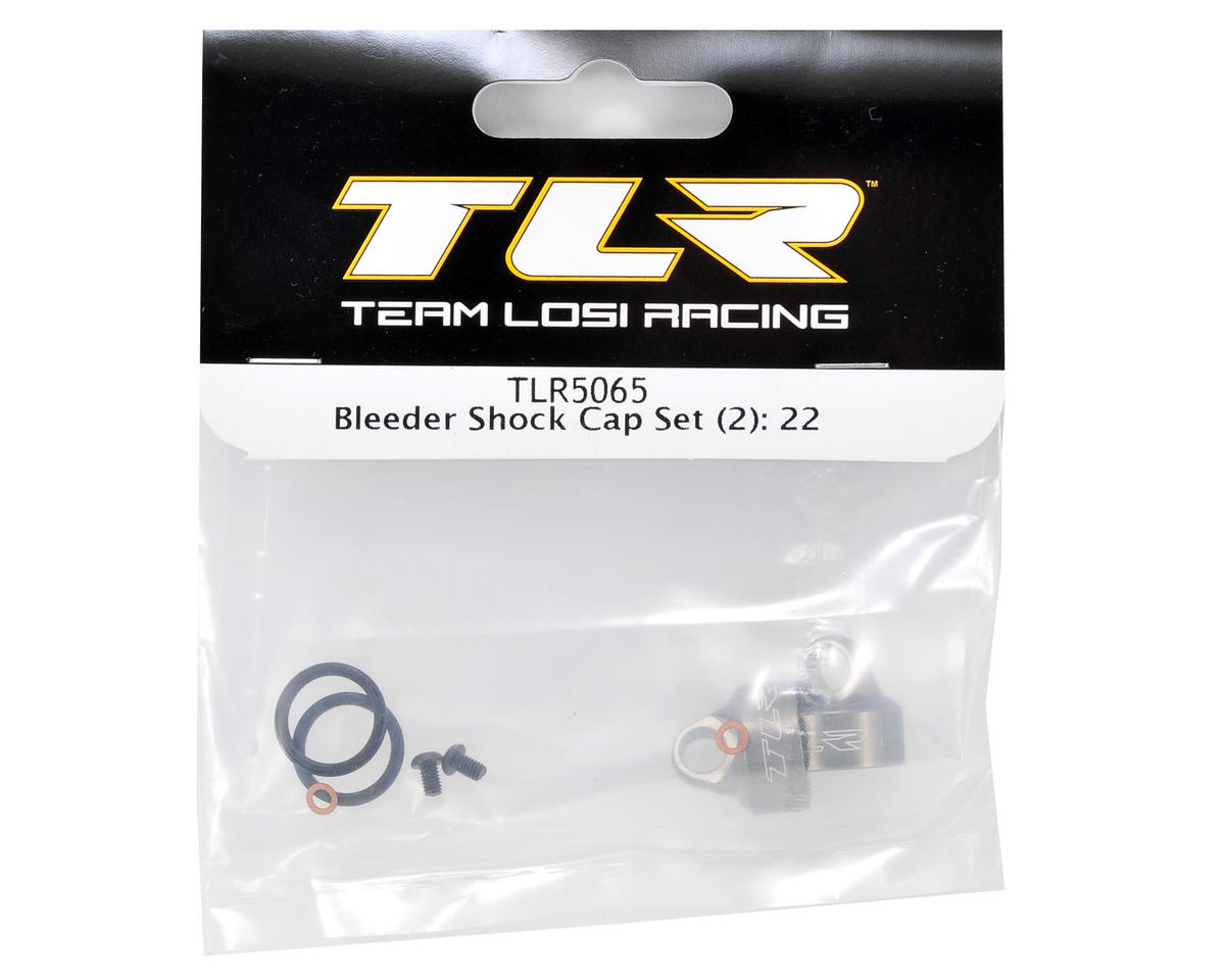 Team Losi Racing Bleeder Shock Cap Set (2) (TLR 22/22T)