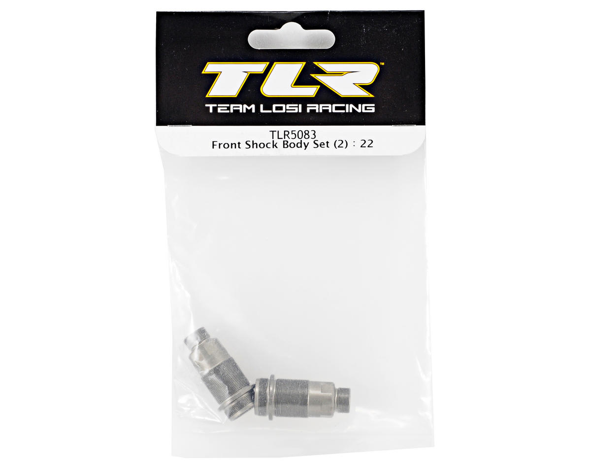 Team Losi Racing Front Shock Body Set (2) (TLR 22)
