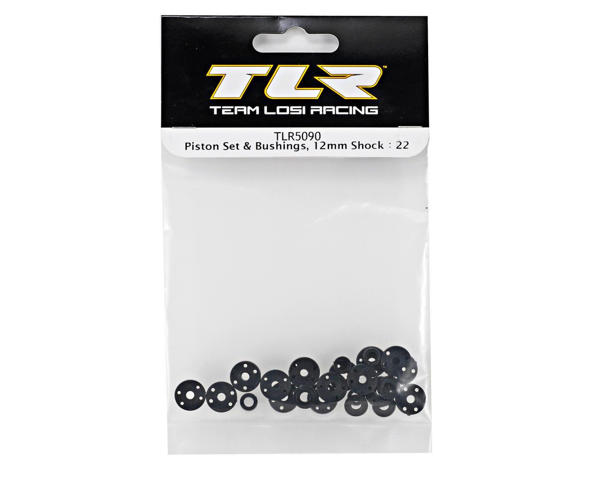 12mm Piston & Bushings Set (TLR 22) by Team Losi Racing