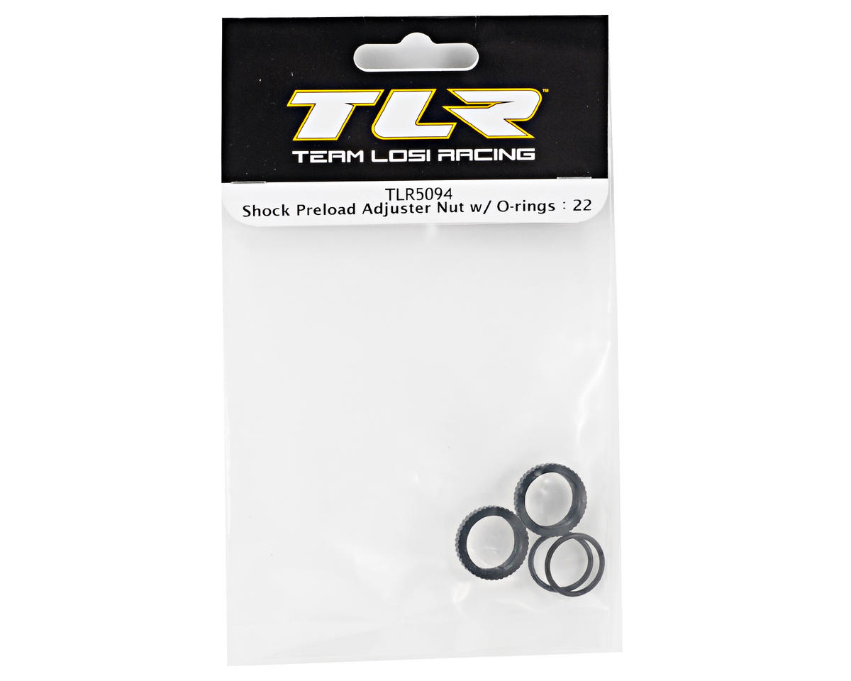 Team Losi Racing Shock Preload Adjuster Nut Set (TLR 22)