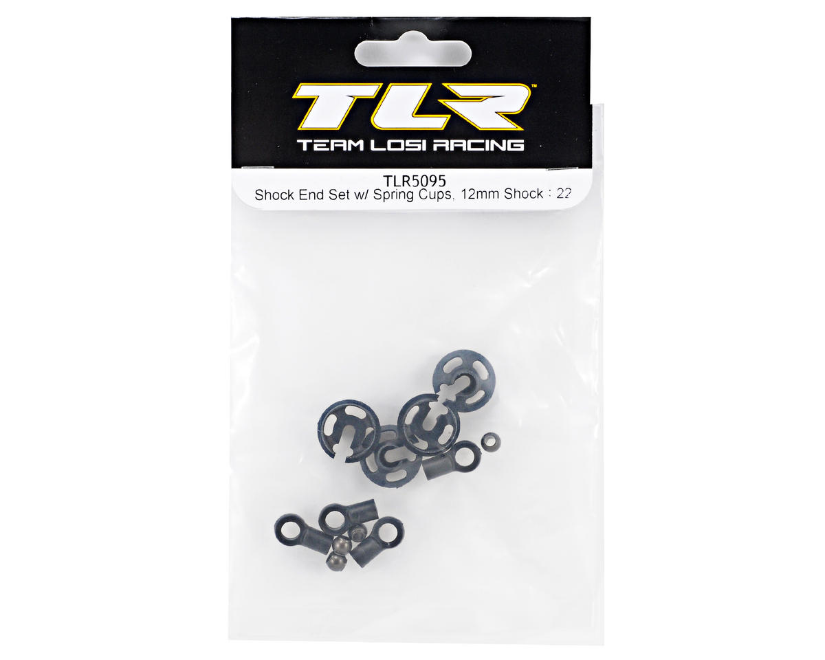 Team Losi Racing 12mm Shock End & Spring Cup Set (TLR 22)