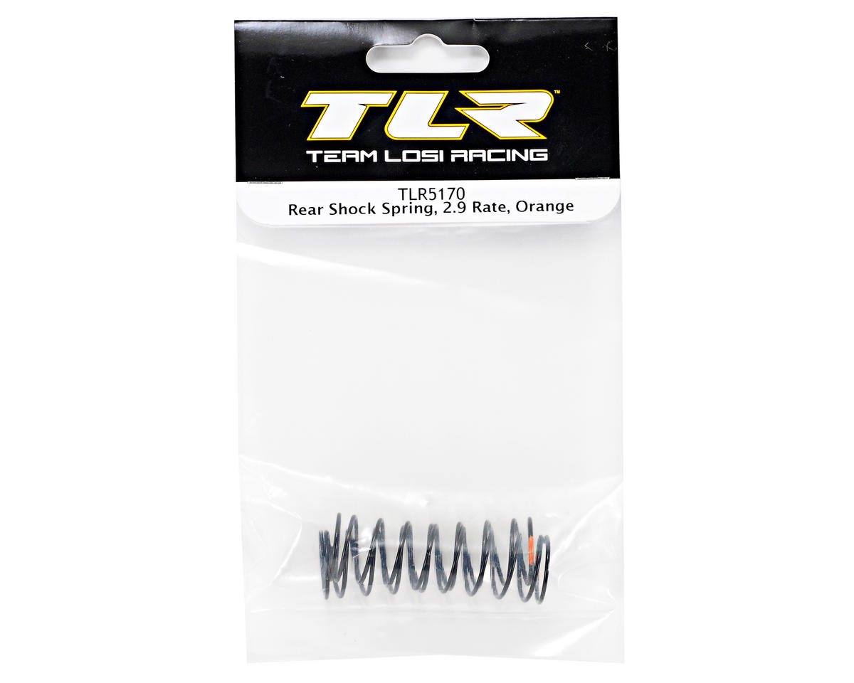 Rear Shock Spring Set (2.9 Rate/Orange) (TLR 22) by Team Losi Racing