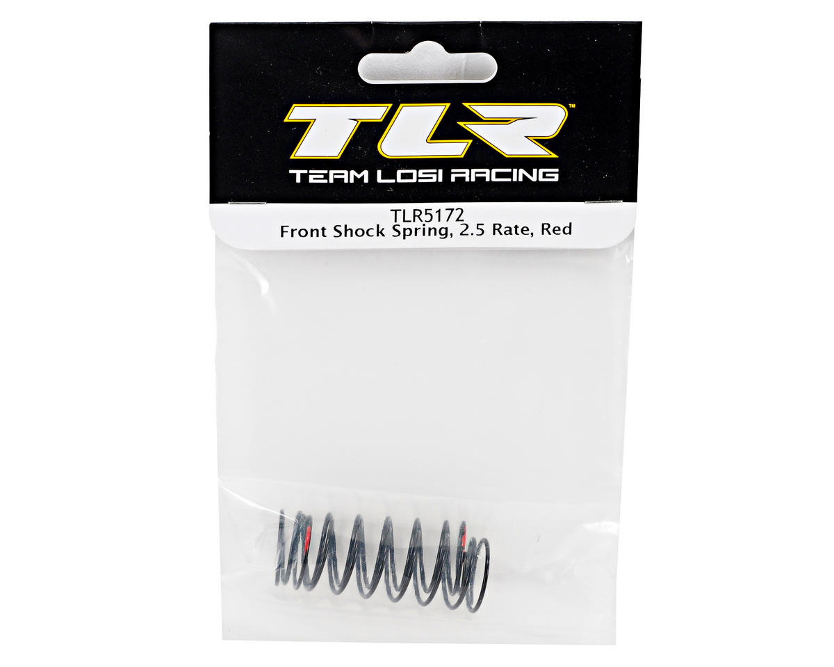 Team Losi Racing Front Shock Spring Set (2.5 Rate/Red) (TLR 22)