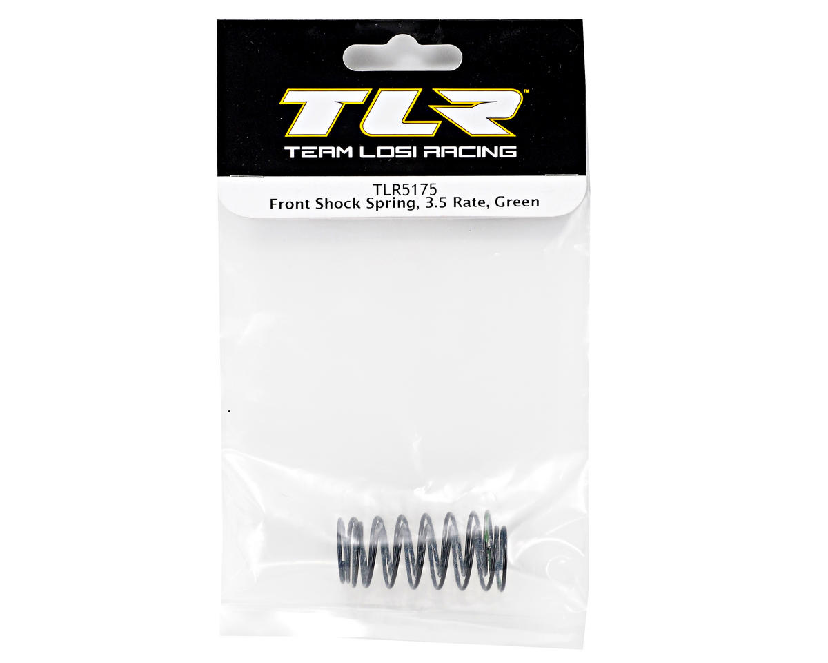 Front Shock Spring Set (3.5 Rate/Green) (TLR 22) by Team Losi Racing