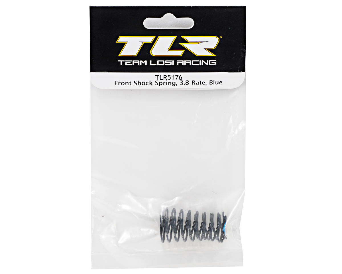 Team Losi Racing Front Shock Spring Set (3.8 Rate/Blue) (TLR 22)