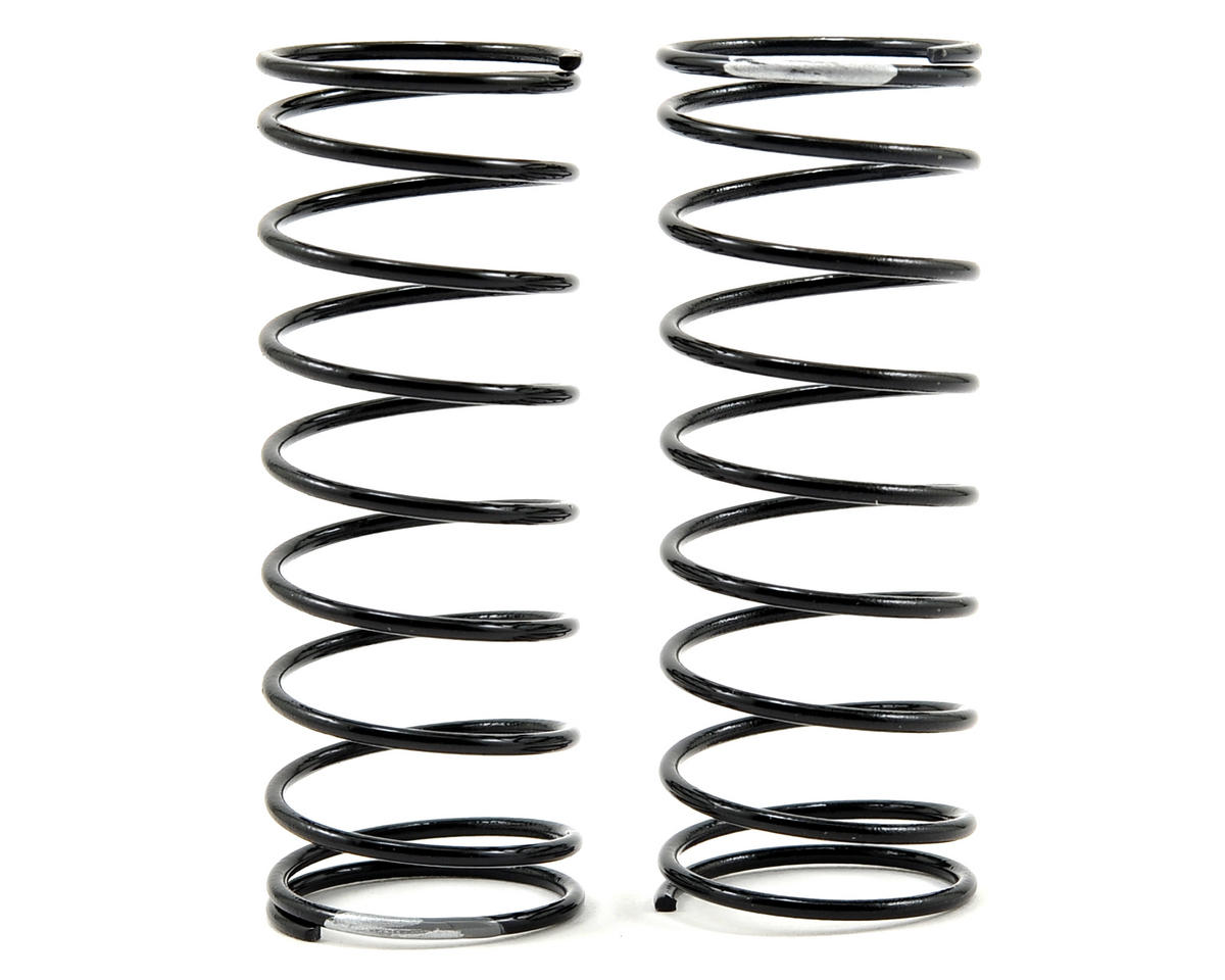 Front Shock Spring Set (Silver - 3.2 Rate) (2) by Team Losi Racing