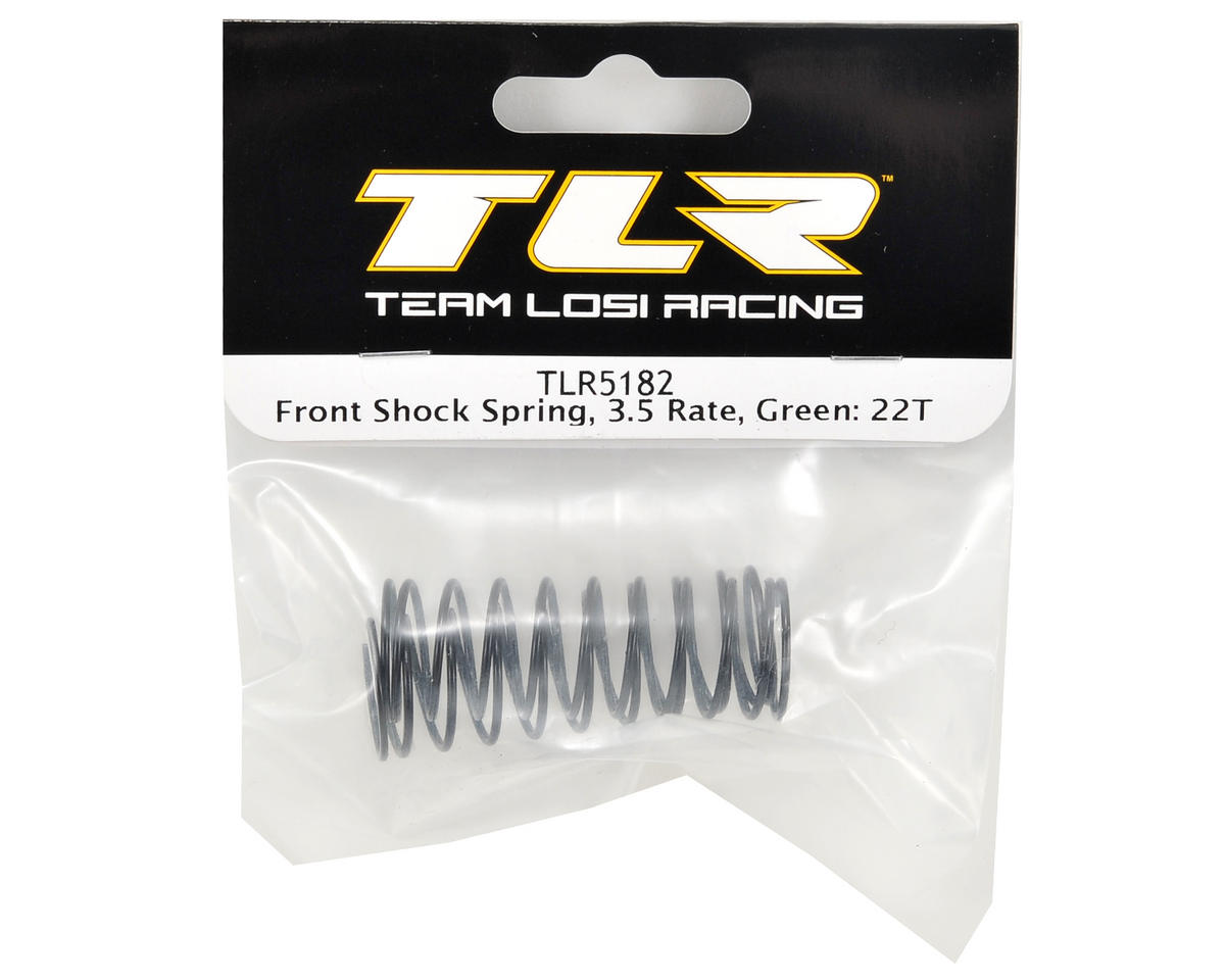 Front Shock Spring Set (Green - 3.5 Rate) (2) by Team Losi Racing