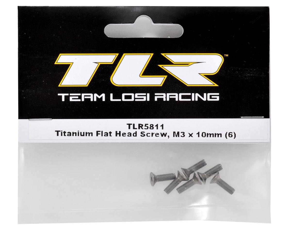 Team Losi Racing Titanium 3x10mm Flat Head Screw (6)