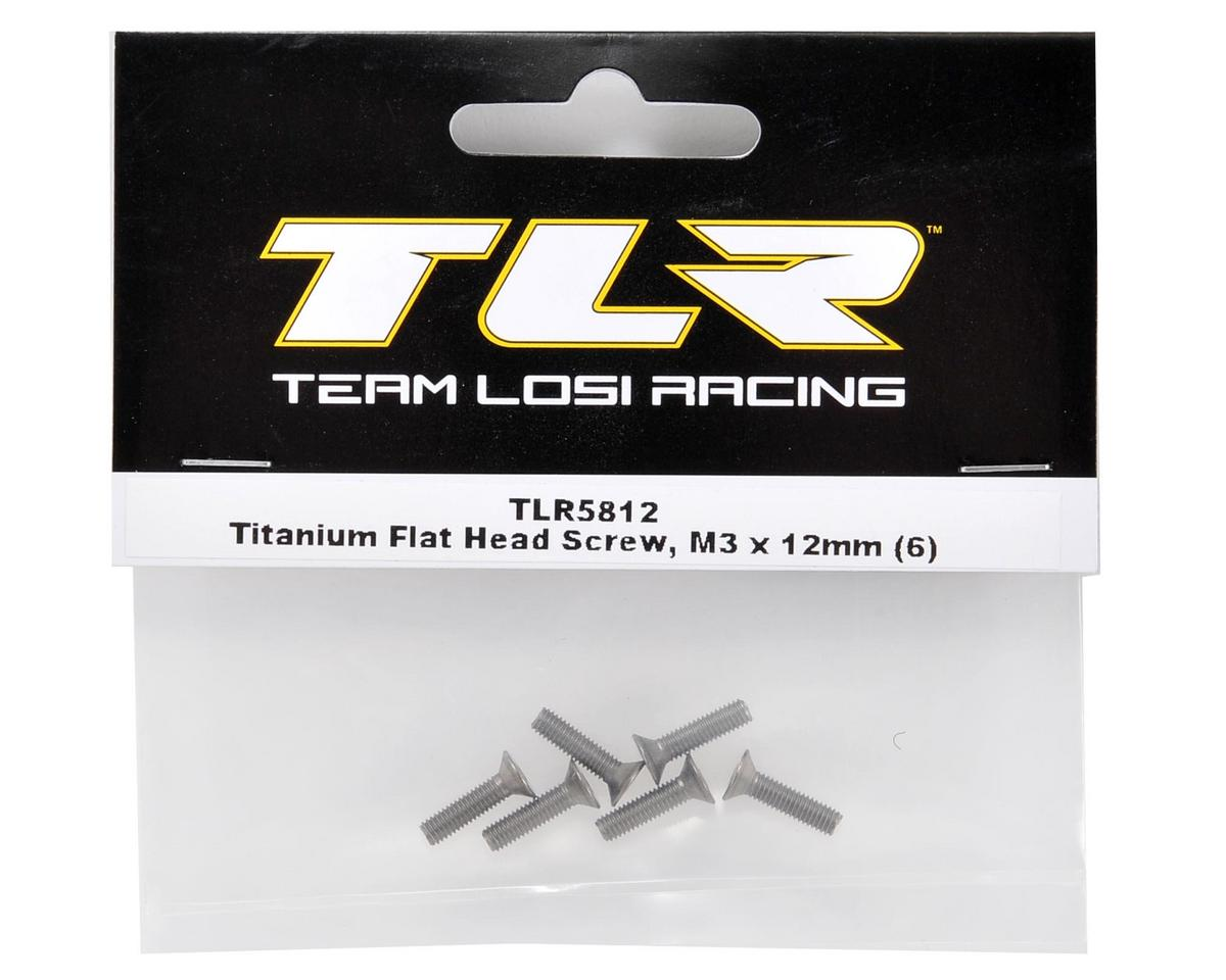 Team Losi Racing Titanium 3x12mm Flat Head Screw (6)