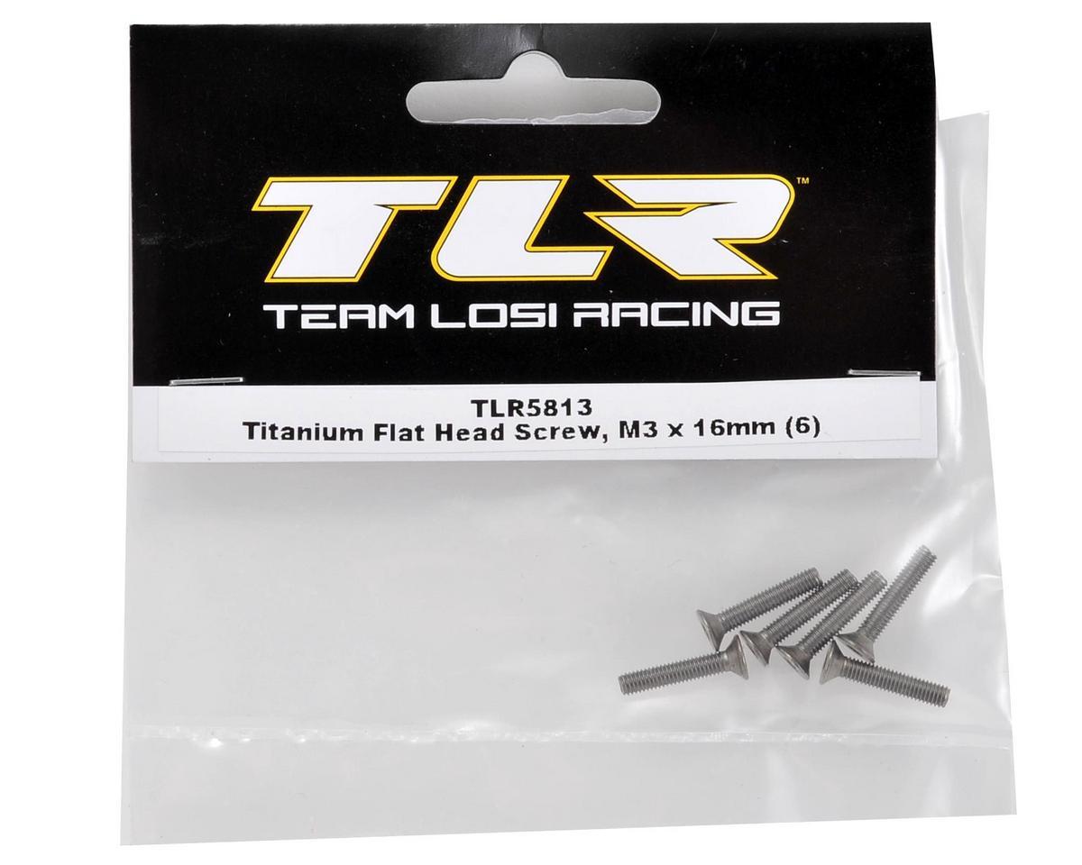 Team Losi Racing Titanium 3x16mm Flat Head Screw (6)