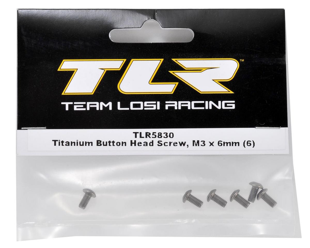 Team Losi Racing Titanium 3x6mm Button Head Screw (6)