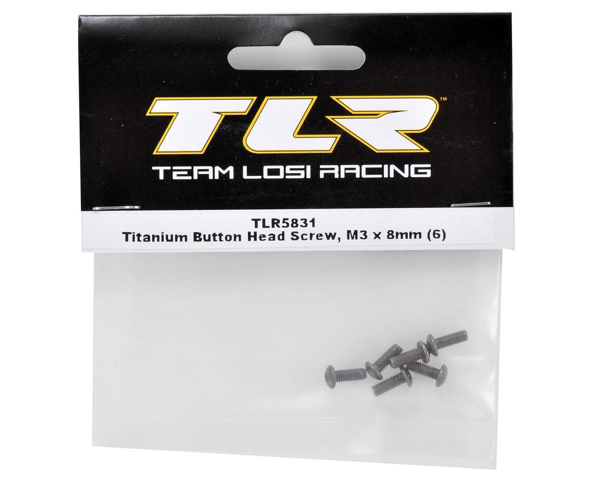 Team Losi Racing Titanium 3x8mm Button Head Screw (6)