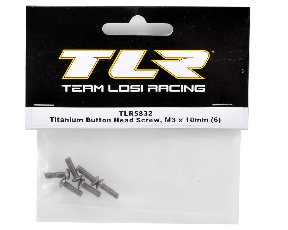 Team Losi Racing Titanium 3x10mm Button Head Screw (6)