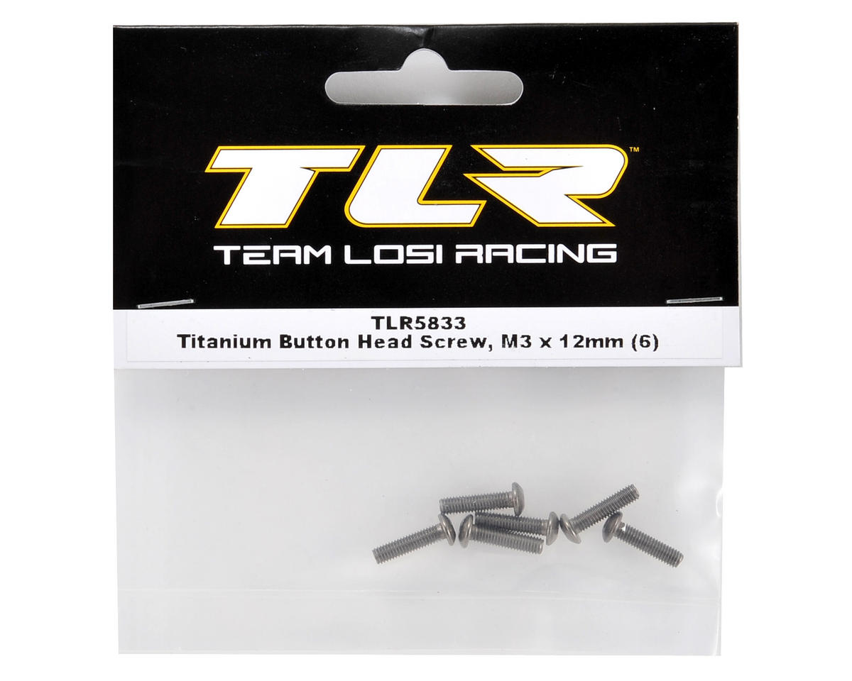 Team Losi Racing Titanium 3x12mm Button Head Screw (6)
