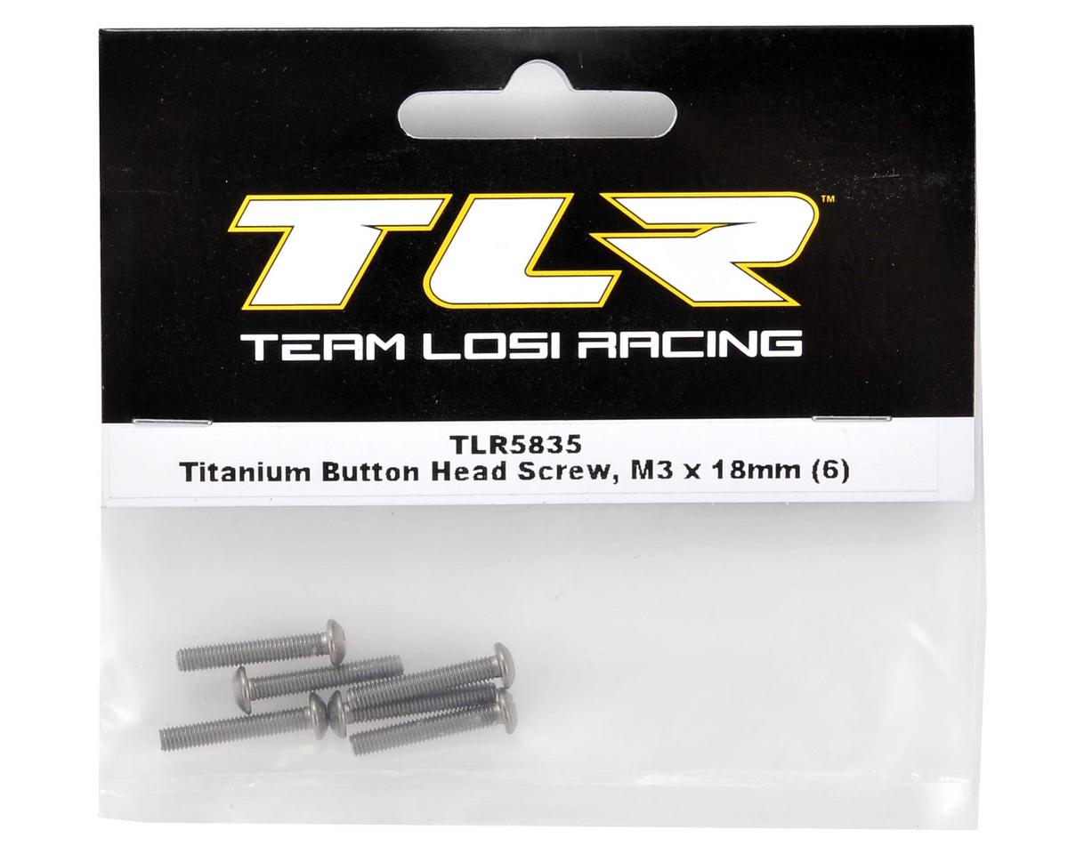 Team Losi Racing Titanium 3x18mm Button Head Screw (6)