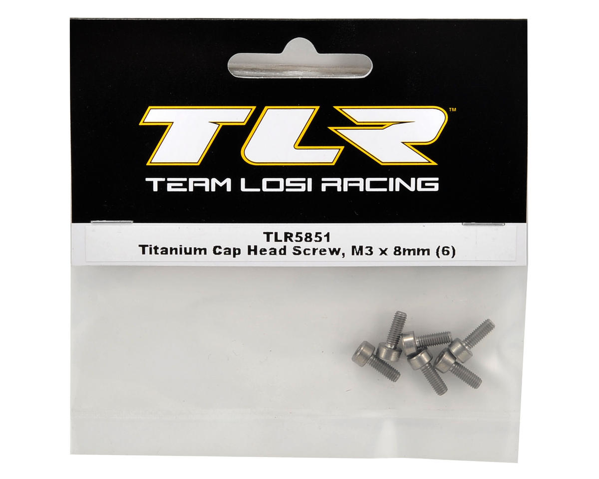 Team Losi Racing Titanium 3x8mm Cap Head Screw (6)