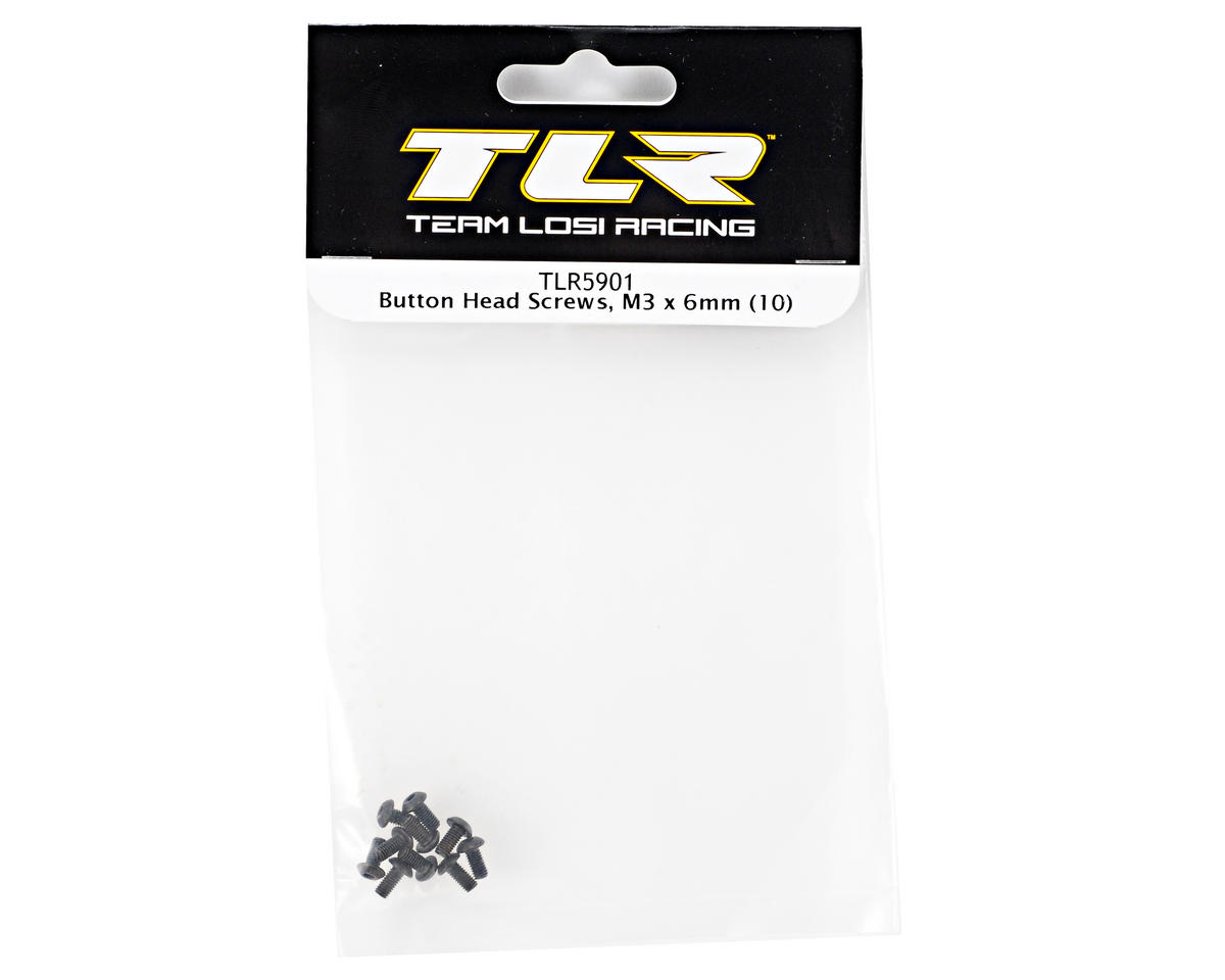 Team Losi Racing 3x6mm Button Head Screws (10)