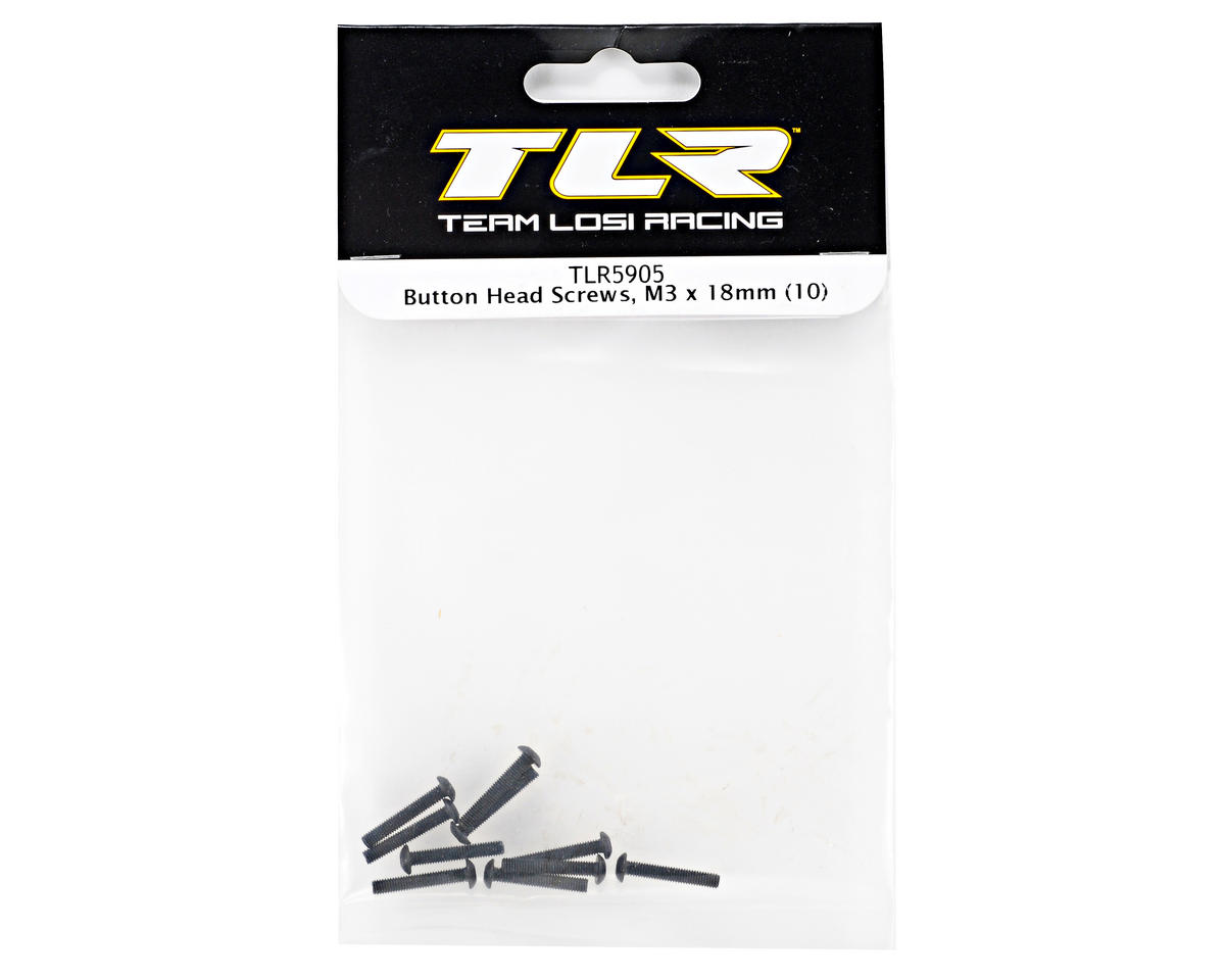 Team Losi Racing 3x18mm Button Head Screws (10)