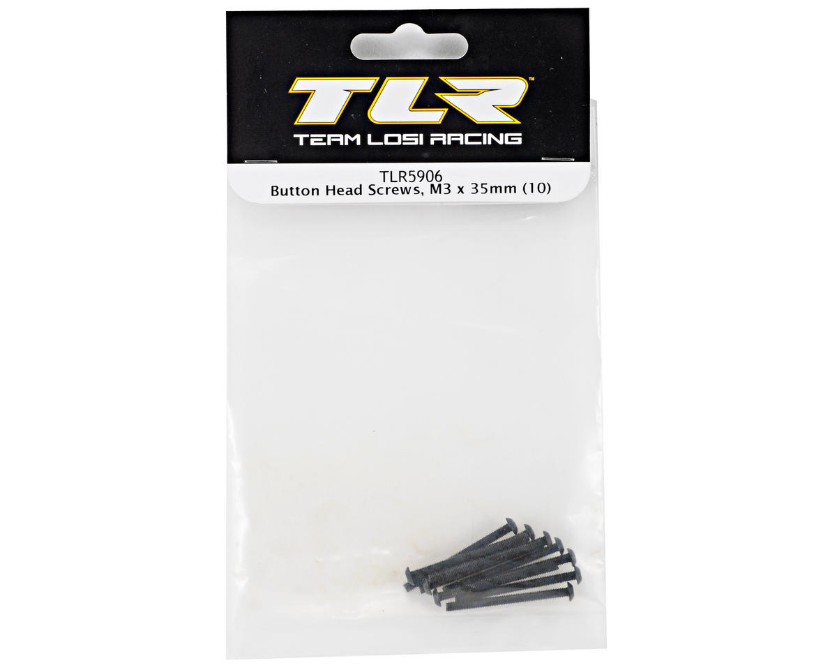Team Losi Racing 3x35mm Button Head Screws (10)