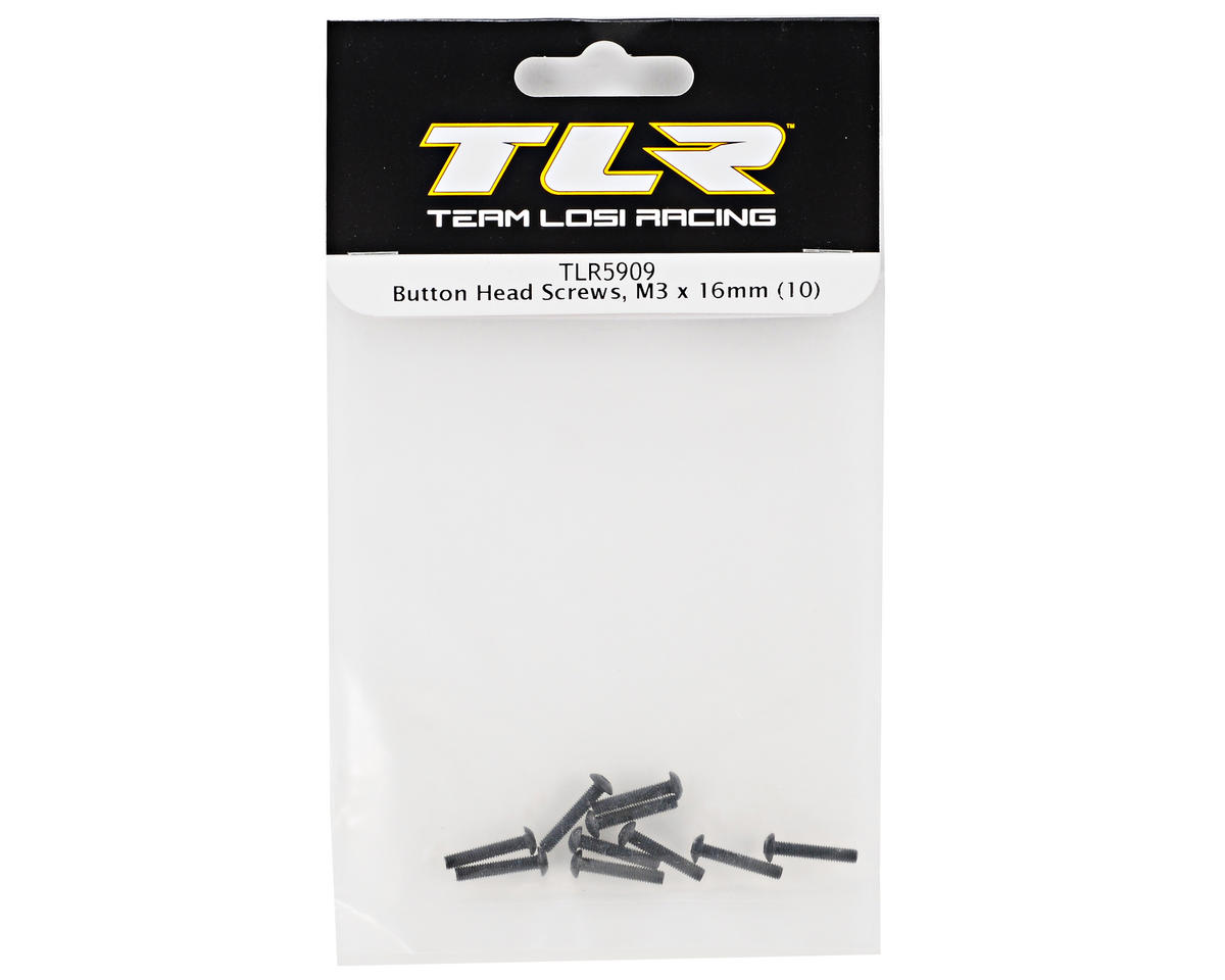 Team Losi Racing 3x16mm Button Head Screws (10)